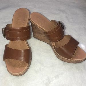 BOC women wedges with buckle